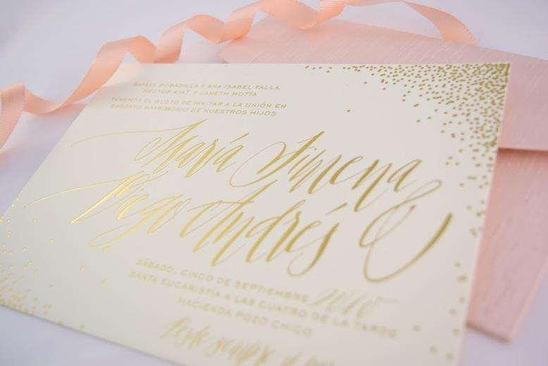 PB Estampado dorado papel alto gramaje